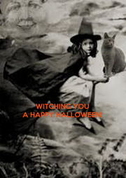 WITCHING YOU A HAPPY HALLOWEEN! - Personalised Poster A4 size