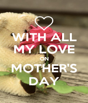 WITH ALL MY LOVE ON MOTHER'S DAY - Personalised Poster A4 size