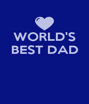 WORLD'S BEST DAD    - Personalised Poster A4 size