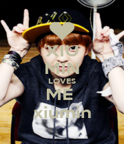 XIU MIN LOVES ME  xiumin - Personalised Poster A1 size