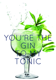 YOU'RE THE GIN TO MY TONIC - Personalised Poster A4 size