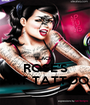 BLACK  ROSE'S ART TATTOO - Personalised Poster A1 size
