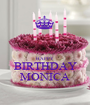 HAPPY  BIRTHDAY MONICA - Personalised Poster A1 size