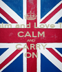 Keep Calm and Love Thembani CALM AND CARRY ON - Personalised Poster A1 size