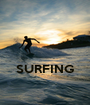 SURFING  - Personalised Poster A1 size