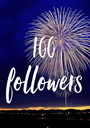 100 followers - Personalised Poster A1 size