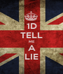 1D TELL ME A LIE - Personalised Poster A1 size