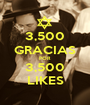 3,500 GRACIAS POR 3,500 LIKES - Personalised Poster A1 size