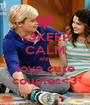 <3KEEP CALM AND love cute couples<3 - Personalised Poster A1 size