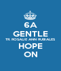 6A GENTLE TR. ROSALIE ANN RUBIALES HOPE ON - Personalised Poster A1 size