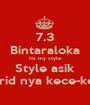 7.3 Bintaraloka Its my style Style asik Murid nya kece-kece - Personalised Poster A1 size