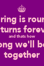 A ring is round  it turns forever and thats how long we'll be  together - Personalised Poster A1 size