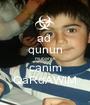 ad  qunun mubarek canim QaRdAWiM - Personalised Poster A1 size