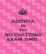 ADITHYA IS BUSY!  NO CHATTING! EXAM TIME!  - Personalised Poster A1 size