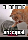 all animals are equal - Personalised Poster A1 size