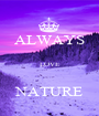 ALWAYS  LOVE  NATURE - Personalised Poster A1 size
