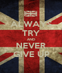ALWAYS TRY AND NEVER GIVE UP - Personalised Poster A1 size