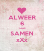 ALWEER 6 JAAR SAMEN xXx - Personalised Poster A1 size