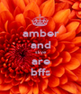 amber and skye are bffs - Personalised Poster A1 size