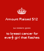 Amount Raised $12  $2 dollars goes to breast cancer for every girl that flashes - Personalised Poster A1 size