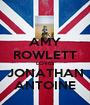 AMY ROWLETT LOVES JONATHAN ANTOINE - Personalised Poster A1 size