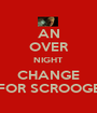 AN OVER NIGHT CHANGE FOR SCROOGE - Personalised Poster A1 size