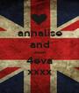 annalise and ewan 4eva xxxx - Personalised Poster A1 size