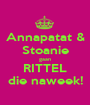 Annapatat & Stoanie gaan RITTEL die naweek! - Personalised Poster A1 size