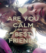 ARE YOU CALM WE ARE BEST FRIENDS - Personalised Poster A1 size