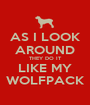 AS I LOOK AROUND THEY DO IT LIKE MY WOLFPACK - Personalised Poster A1 size