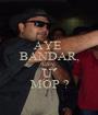 AYE  BANDAR, CAN  U  MOP ? - Personalised Poster A1 size