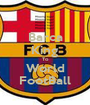 Barca King To World FootBall - Personalised Poster A1 size