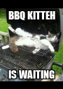 BBQ KITTEH IS WAITING - Personalised Poster A1 size