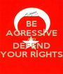 BE AGRESSİVE AND DEFEND YOUR RİGHTS - Personalised Poster A1 size
