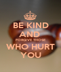 BE KIND AND  FORGIVE THOSE WHO HURT YOU - Personalised Poster A1 size