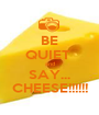 BE QUIET  and SAY... CHEESE!!!!!! - Personalised Poster A1 size