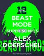 BEAST MODE SUPER SONICS ALEX DOERSCHEL - Personalised Poster A1 size