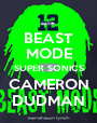 BEAST MODE SUPER SONICS CAMERON DUDMAN - Personalised Poster A1 size