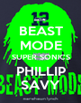 BEAST MODE SUPER SONICS PHILLIP SAVY - Personalised Poster A1 size