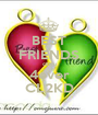 BEST FRIENDS cingu 4ever CL2KD - Personalised Poster A1 size
