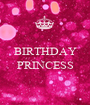 BIRTHDAY  PRINCESS  - Personalised Poster A1 size