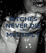 BITCHES NEVER DIE THEY MULTIPLY  - Personalised Poster A1 size