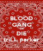 BLOOD GANG OR DIE triLL parker - Personalised Poster A1 size