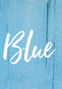 Blue - Personalised Poster A1 size