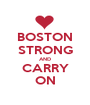 BOSTON STRONG AND CARRY ON - Personalised Poster A1 size