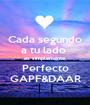 Cada segundo a tu lado  es simplemente Perfecto GAPF&DAAR - Personalised Poster A1 size