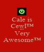 Cale is Cewl™ and Very Awesome™ - Personalised Poster A1 size