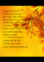 Calgary Corn Maze $10.00 each per person Sale: July 1 until sold out Please make cheques payable to: AUPE Calgary Area Council –  Corn Maze include a SASE: Please include  your AUPE membership number on cheque 117 - Personalised Poster A1 size