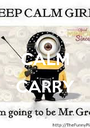CALM  CARRY  - Personalised Poster A1 size