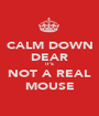 CALM DOWN DEAR IT'S NOT A REAL MOUSE - Personalised Poster A1 size